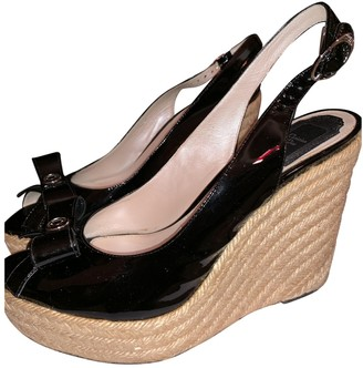 Christian Dior Black Patent leather Espadrilles