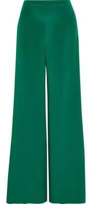 Max Mara Affetto Washed-silk Wide-leg Pants