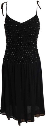 Nice Connection Black Silk Dress for Women