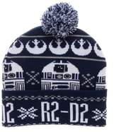 Bioworld Star Wars R2-D2 Fair Isle Pom Beanie