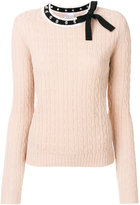 RED Valentino bow neck jumper