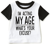 Baby Starters Baby Boys 12-24 Months I m Acting My Age Short-Sleeve Graphic Tee