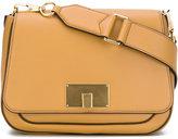 Marc Jacobs clasp shoulder bag - women - Cotton/Leather/metal - One Size