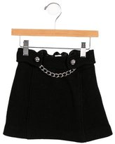 Milly Minis Girls' Chain-Adorned Wool Skirt