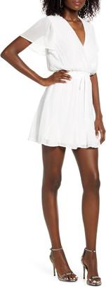 Rowa Flutter Sleeve Godet Minidress