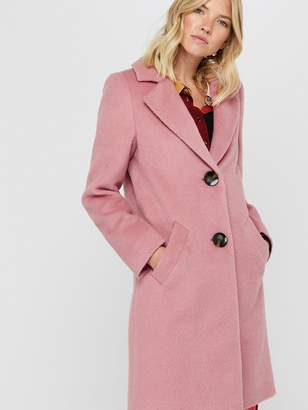 Monsoon Blair Brushed Wool Coat