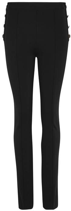 Givenchy Black Flared-leg Stretch-jersey Trousers