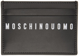 Moschino Black Fantasy Print Card Holder