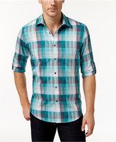 Alfani Aflani Men's Owen Plaid Long-Sleeve Shirt, Only at Macy's