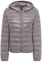 ZSHOW Women's Outwear Hooded Down Coat Light Packable Powder Pillow Down Jackets(,US L/Asian 2XL)
