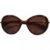 Moncler Brown Plastic Sunglasses