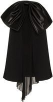Givenchy bow detail pleat silk dress