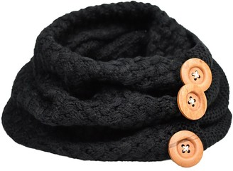 Heekpek Women Knitted Scarf Loop Scarf Warm Winter Neckerchief Neck Warmer Tube Scarf