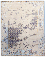 F.J. Kashanian One of a Kind Jayson Hand-Knotted Wool and Silk Rug