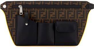 Fendi Men's FF Logo Four-Pocket Crossbody Bag