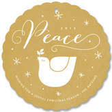 Minted Golden Peace Holiday Ornament Cards