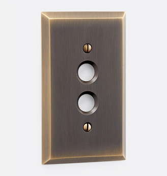Rejuvenation Lewis Single Push-Button Switchplate