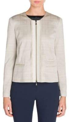 Giorgio Armani Jersey Zip-Front Jacket