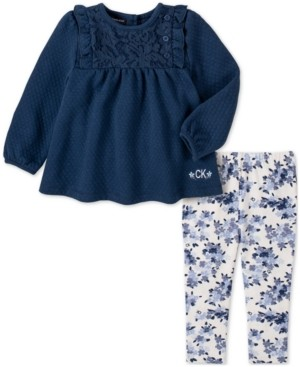Calvin Klein Jeans Baby Girls 2-Pc. Tunic & Leggings Set