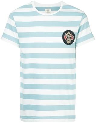 Kent & Curwen patch striped T-shirt