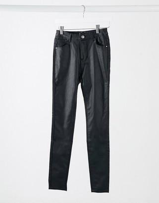I SAW IT FIRST coated jean in black