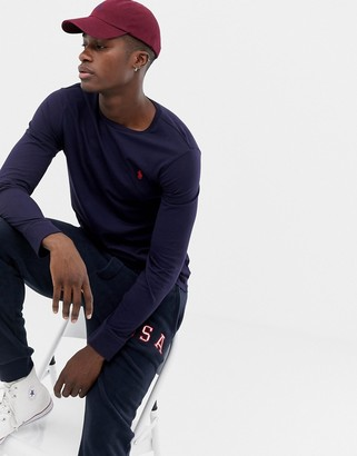 Polo Ralph Lauren long sleeve top with icon logo in navy