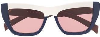 Marni Eyewear colour block sunglasses