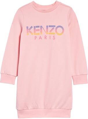 Kenzo Kids' Logo Graphic Fleece Sweatshirt Dress