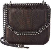 Stella McCartney Falabella Box Mini Python-Embossed Crossbody