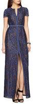 BCBGMAXAZRIA Cailean Floral Lace Gown