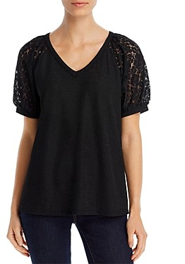 Kim & Cami Lace-Sleeve Top