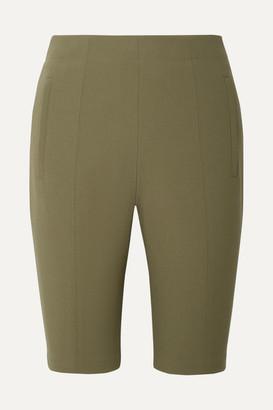 Tibi Anson Ponte Shorts - Army green