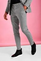 boohoo Mens Black Super Skinny Smart Gingham Check Trouser, Black