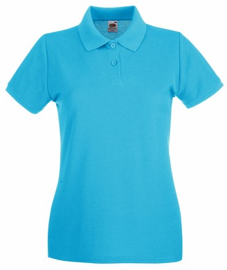 Fruit of the Loom Women's Polo Shirt - Multicoloured - XX-Large