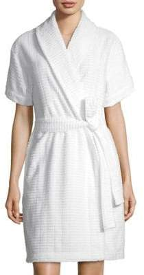 Saks Fifth Avenue Women's COLLECTION Windowpane Terry Robe