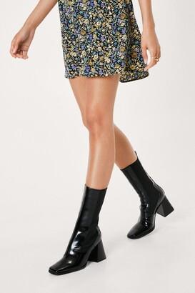 Nasty Gal Womens High Expectations Block Heel Chelsea Boots - Black - 5, Black