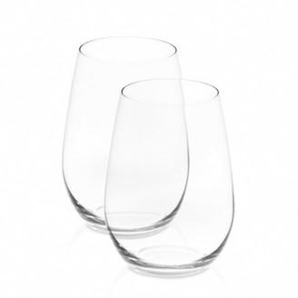 Riedel O 2 Piece Crystal Riesling/Sauvignon Blanc Stemless Wine Glass Set 375ml