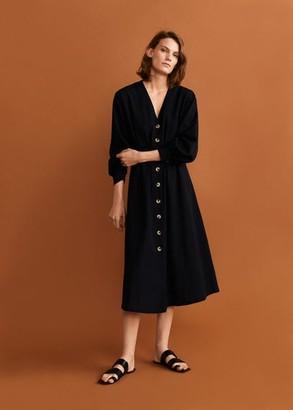 MANGO Buttoned midi dress