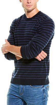 Vince Striped Wool Crewneck Sweater