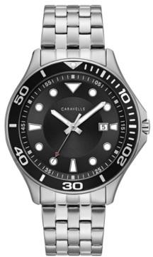 Caravelle Designed by Bulova Men's Sport Stainless Steel Bracelet Watch 42mm