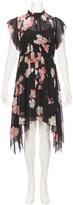 Ulla Johnson Luisa Watercolor Floral Drape Side Dress