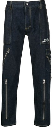 Alexander McQueen zipped pocket jeans