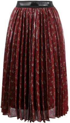 Coach Pleated Midi-Skirt