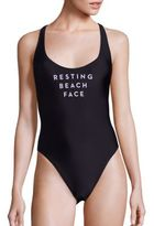 Milly Rest Beach Face One-Piece Swimsuit