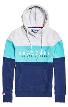Superdry Women's Track & Field Lite Cb Hood Hoodie, (Blue Fade Qhp), Small (Size: )