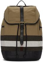 Burberry Beige Drifton Check Backpack
