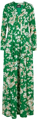 Boutique Moschino Green floral-print maxi dress