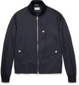 Brunello Cucinelli Virgin Wool And Silk-blend Bomber Jacket