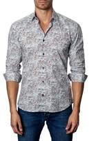 Jared Lang Men's Trim Fit Check Sport Shirt