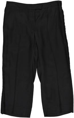 Maison Margiela Black Silk Trousers